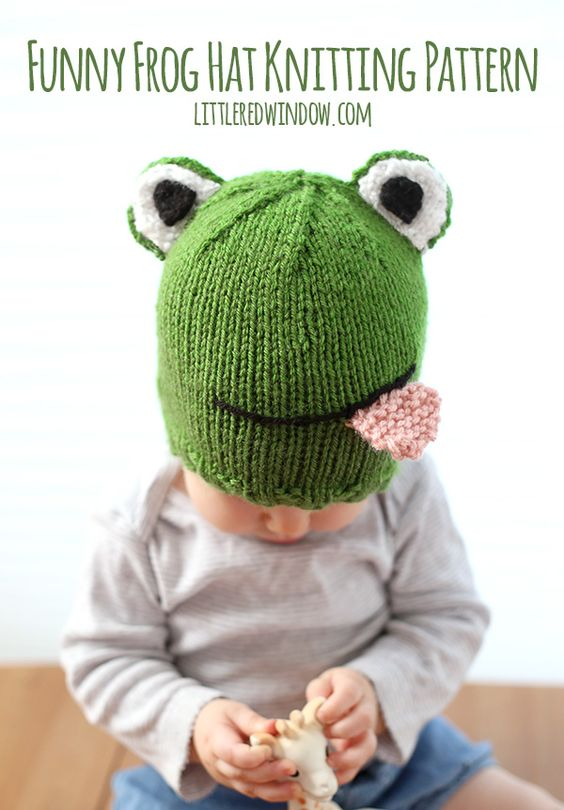 Funny Knitting Images : Funny frog hat knitting pattern frogs window and