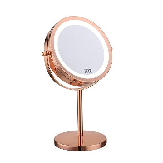 Lighted Makeup Mirror 7 Led Tabletop Vanity Mirror 10x
