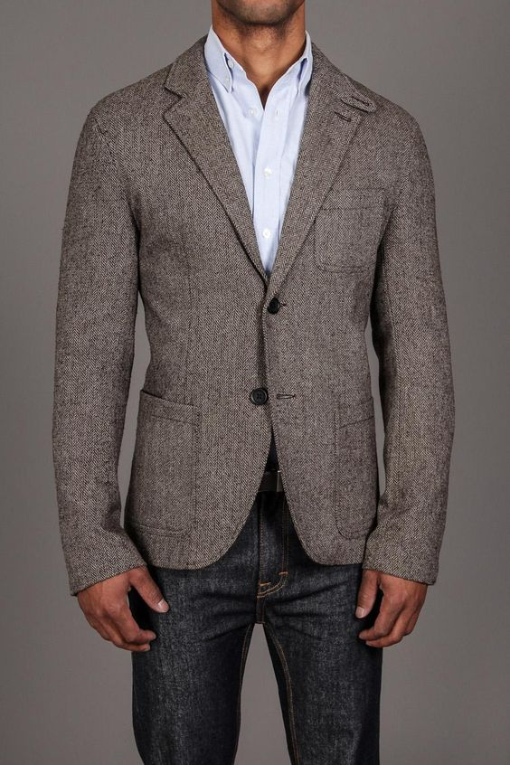 Herringbone Blazer / by Threads 4 Thought | Outfit Blazer Gris ...