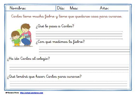 Lecturas comprensivas de frases para 1º