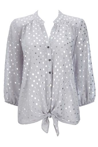 metallic polka dot top / wallis