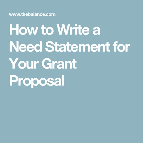 How To Write A Need Statement For Your Grant Proposal Template Techwalla Cookbook