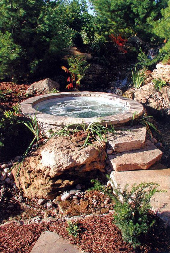 Oh look!  It's a naturally-occurring hot tub! That's perfectly round, and has jets!
