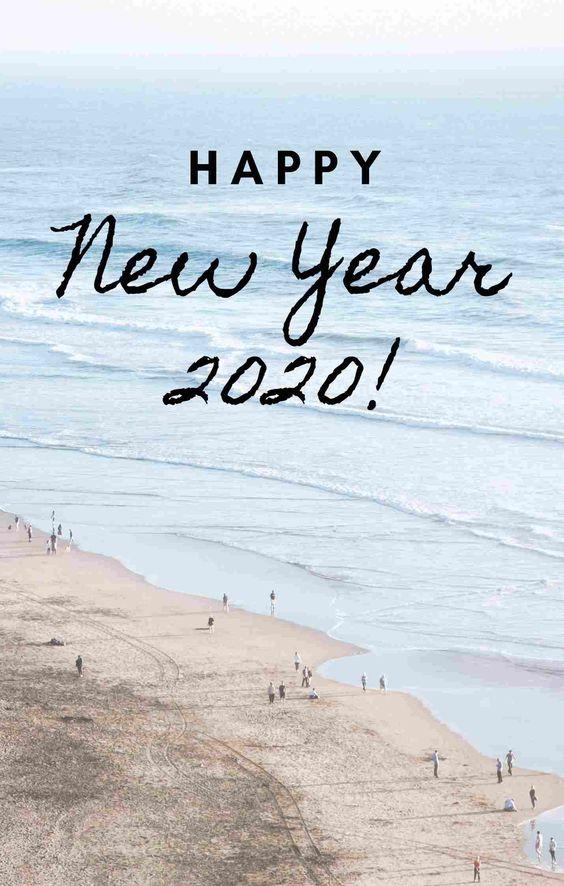 Kartu ucapan selamat Tahun Baru 2020