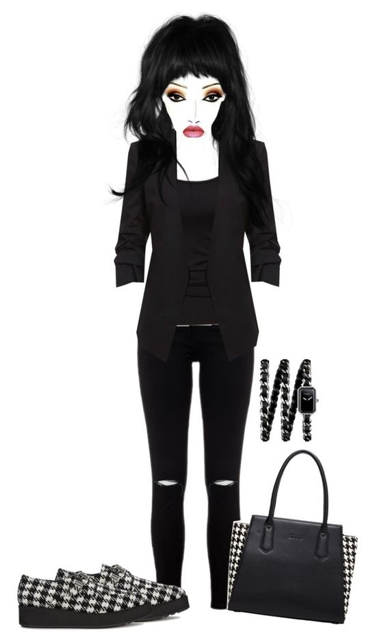 """""""Untitled #6390"""" by mrsmayweather ❤ liked on Polyvore featuring SUSU, French Connection, McQ by Alexander McQueen and Chanel"""