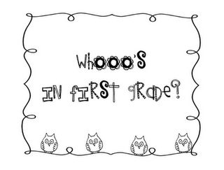Whoo's In _____ Grade? Class Book.  Templates for K-3