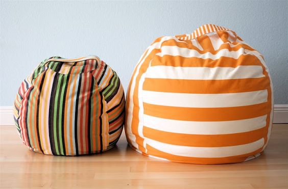 DIY Beanbag chair with removable (and washable!) slipcover tutorial.  Perfect for classroom library seating!