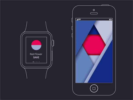 Watch+Mobile Wallpaper Concept with Material Design