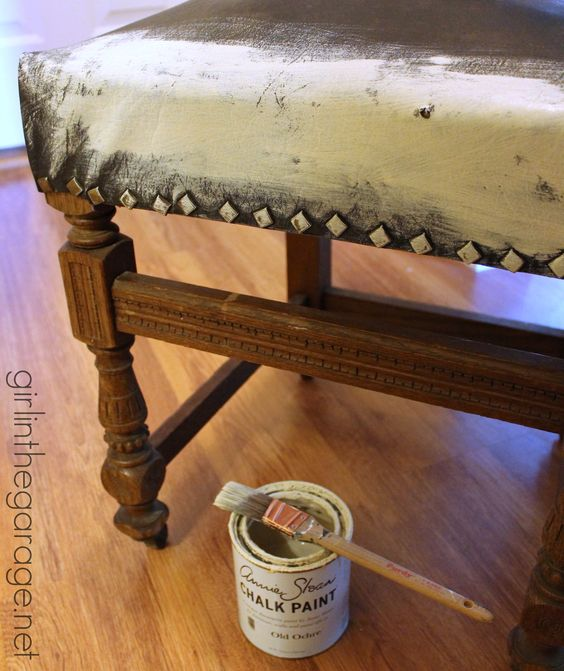 Where To Buy Paint For Leather Sofas: Painted Leather Chair Makeover With Annie Sloan Chalk