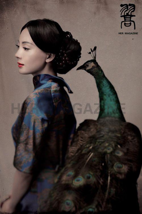 Peacock love: