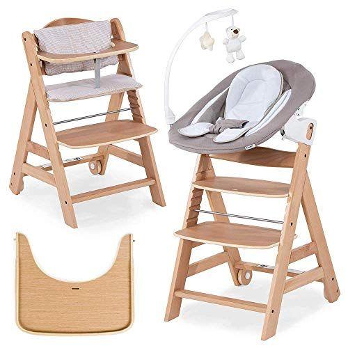 Hauck Beta Plus Newborn Set Deluxe Chaise Haute Bebe En Bois Evolutive Des Naissance Inclus Transat P Chaise Haute Chaise Haute Bebe Chaise Haute Transat