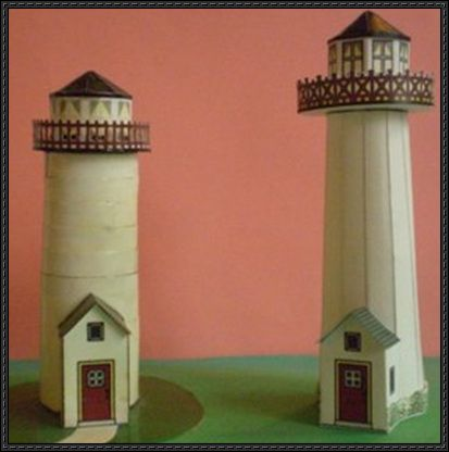 Two lighthouse paper models free templates download http for 3d paper lighthouse template