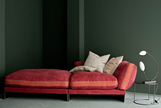 Love how the colours work together.: Interior Design, Sofa, Green Walls, Furniture Lighting Interiors, Dark Walls, Interiors Furniture, Life Colors