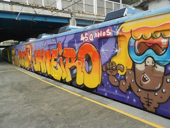 Trens do Rio de Janeiro são pintados em homenagem aos 450 anos da cidade