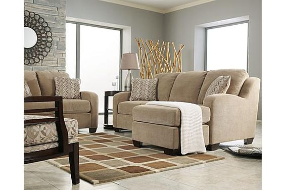 The circa sofa with moveable chaise from ashley furniture for Ashley circa taupe sofa chaise