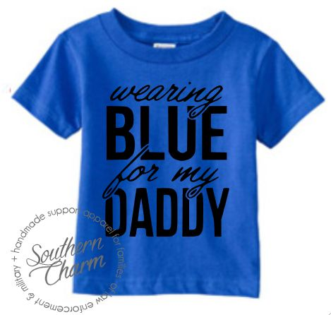 Southern Charm Designs Wearing Blue For My Daddy