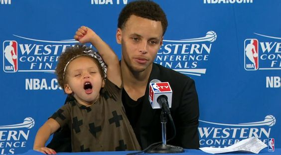 Stephen Curry's daughter stole the show his postgame press conference Stephen Curry  #StephenCurry