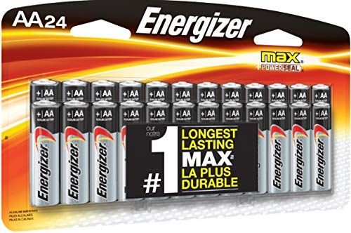 Energizer Aa Batteries 24 Count Double A Max Alkaline Battery Energizer Energizer Battery Alkaline Battery