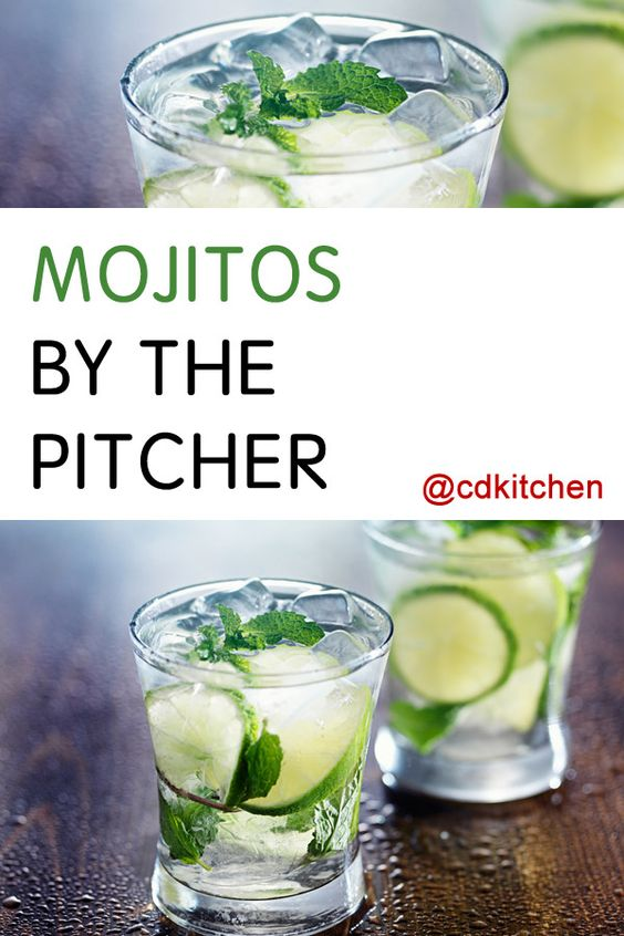 Made with mint leaves, lime juice, simple syrup, rum, club soda, ice   CDKitchen.com