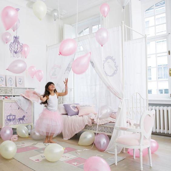 Vorhang für Kinder-Himmelbett Princesse