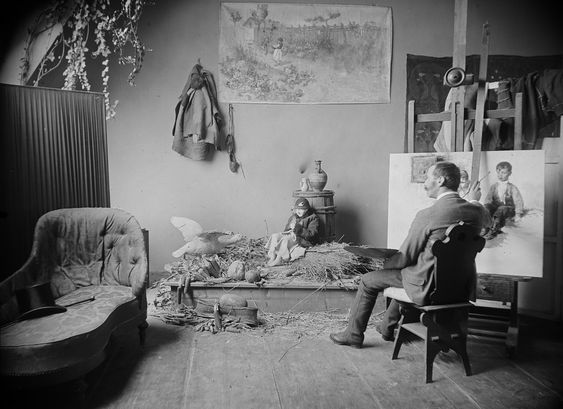 Carl_Teufel_Géza_Peske_in_his_Studio.jpg (1927×1400)