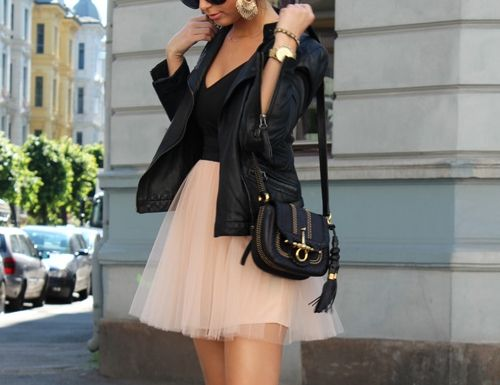 So pretty#Repin By:Pinterest++ for iPad#: Leather Tulle, Tutu Skirts, Tulle Skirts, Fashion Style, Dream Closet, Dress, Leather Jackets, My Style