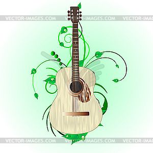 Acoustic guitar - royalty-free vector image