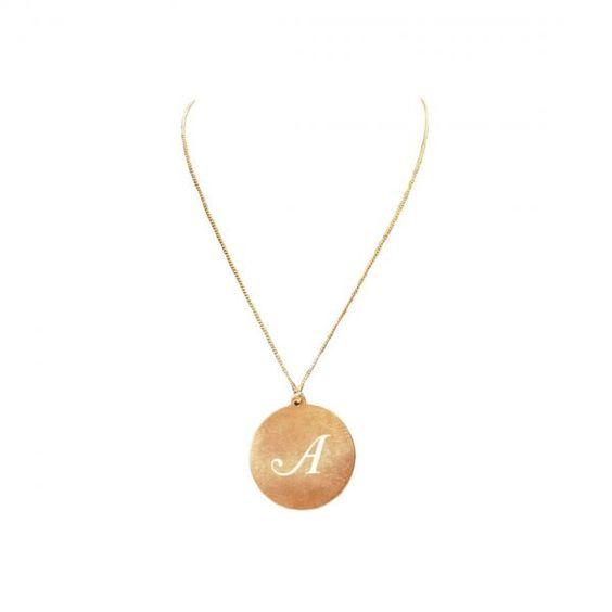 Initial Pendant Necklace, personalize it!