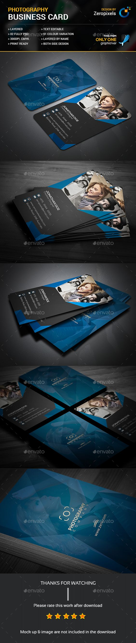 Creative Photographer Business Card Print Ready Designs