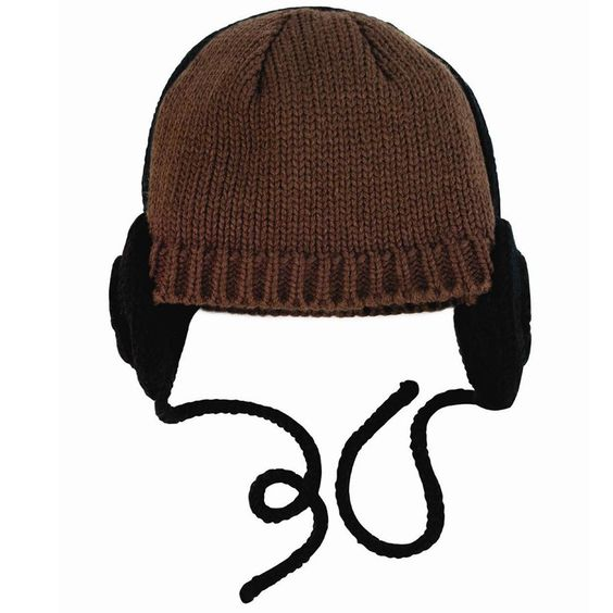 Brown knitted hat with headphones From www.kidsandcouture.com