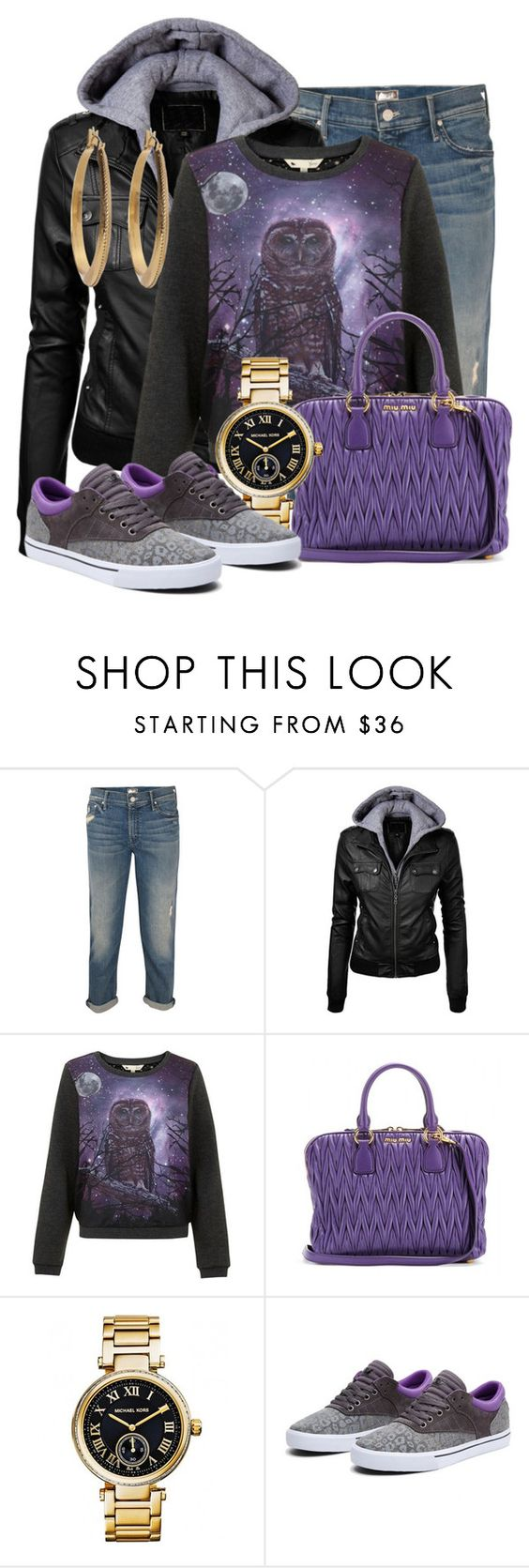 """""""Hooty Who!?"""" by xx8763xx ❤ liked on Polyvore featuring Mother, Lipsy, Miu Miu, Michael Kors and Lauren Ralph Lauren"""