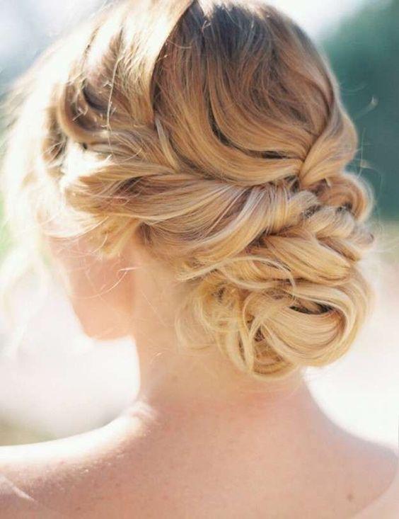 Recogido elegante peinados para ceremonias 2016 - Recogido para boda ...