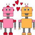 Robot Love Valentine Clip Art