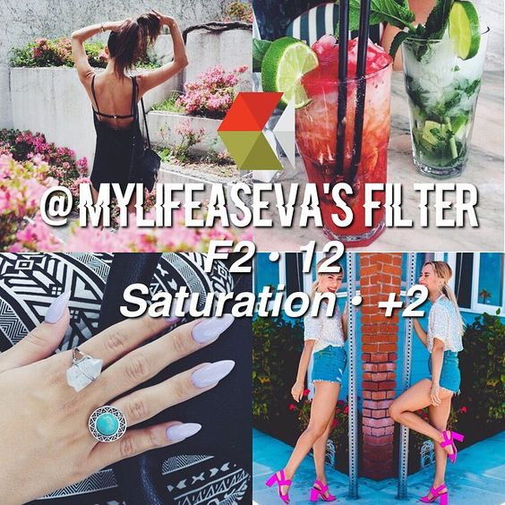 ↠ @mylifeaseva 's Filter! ↠ Looks Best With - Anything ↠ Theming - 9.5/10 It's very easy to theme if you post bright colorful pictures, they don't even need to be the same colors and it still matches great! How to Achieve This Feed ☕️ Post photos with bright colors in it. Post beach photos and food pictures Take ootds and photos of/with people She also sometimes uses c1 from Vsco Cam. ↠ QOTD - Favorite youtuber?