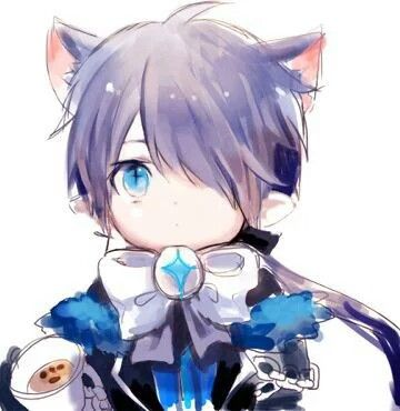 Chibi Neko Ciel. This is incorrect. His eye patch should have been on the left!