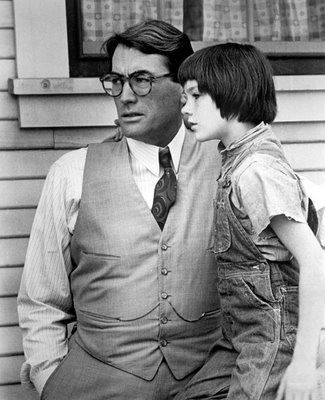 gregory peck (as atticus finch) in to kill a mockingbird
