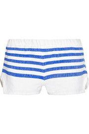 LemLemLilly striped cotton-blend gauze shorts