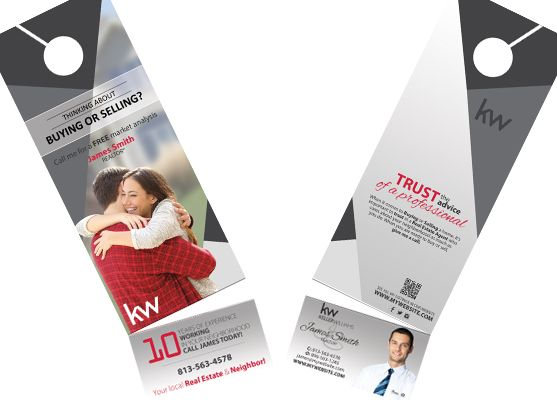 Keller Williams Door Hangers Business Card Slits Business Card Slits Door Hanger Printing Door Hangers Business Card Holders