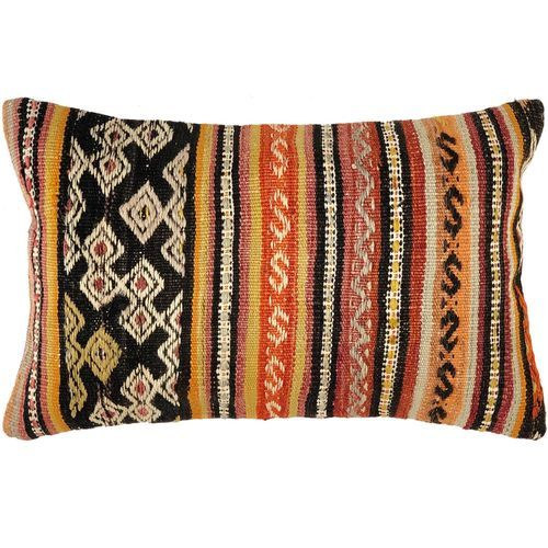 Kilim Lumbar Pillow Cover 12 X 20 In 2020 Pillow Covers
