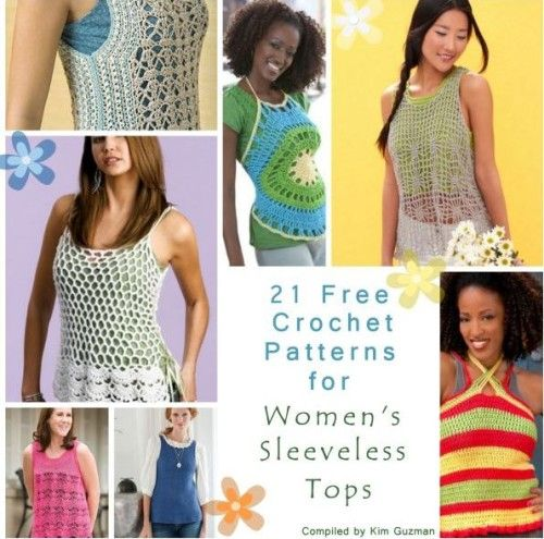Free Crochet Patterns For Sleeveless Tops : Beautiful, Searching and Patterns on Pinterest