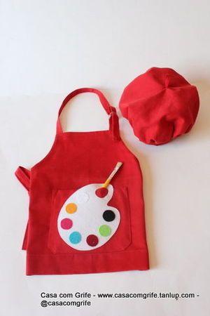 Kit Avental Infantil Pintando o 7