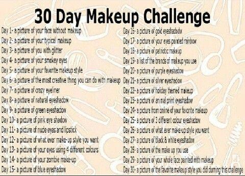 Makeup Challenge Makeup Challenges Day Makeup Makeup Memes