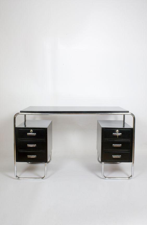 Schreibtisch schwarz Thonet