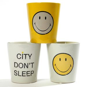 Smiley Orchid Pot Set Yellow