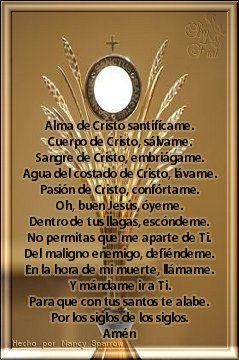 Santisimo Sacramento Spiritual Messages Prayers Dear God