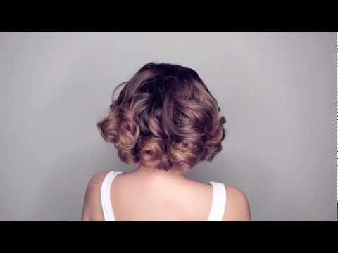 Turn long hair into 50s bob. Tutorial.