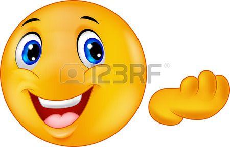Happy emoticon smiley cartoon Stock Vector