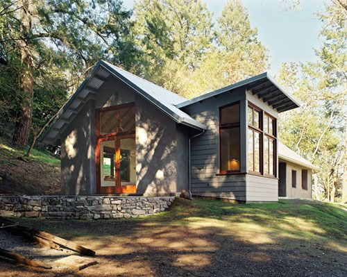 Wine creek residence a contemporary dogtrot style straw for Straw bale home designs