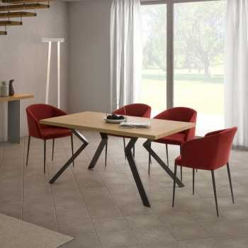 Extending Dining Tables Online Diotti Com Cuisine Moderne Table De Cuisine Table A Manger Extensible