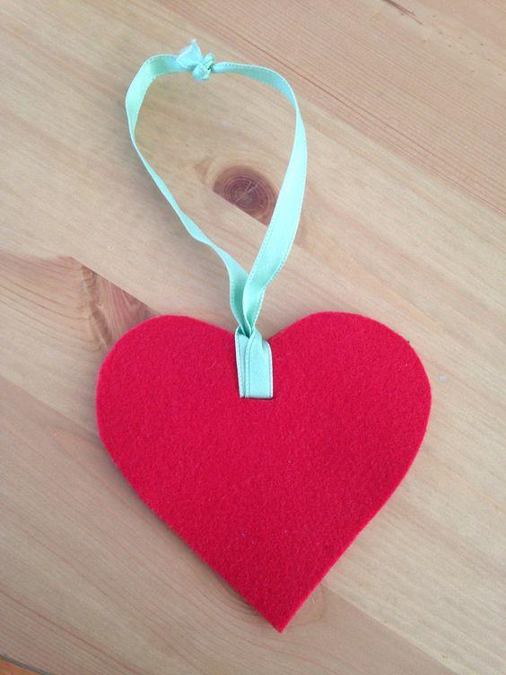 Coração de feltro